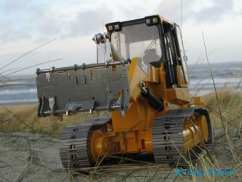CTI-Bruder Laderaupe CAT 963D mit BRAEKER-LOCK Schnellwechsler | Quick coupler for RC track loader