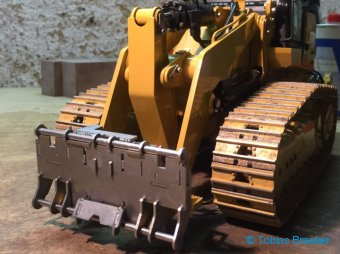 ScaleART Laderaupe CAT 963B mit BRAEKER-LOCK Schnellwechsler | Quick coupler for RC wheel loader